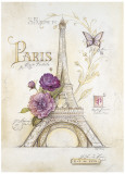 Eiffel Tower Roses Posters par Angela Staehling