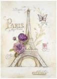 Eiffel Tower Roses Poster von Angela Staehling