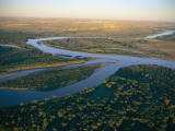 Aerial of the Confluence of the Yellowstone and Missouri Rivers Photographic Print by Sam Abell