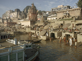 Hindu Pilgrims Wash Away Sins in the Ganges Photographic Print by John Scofield