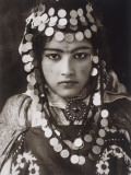 An Algerian Girl Wears a Dowry of Gold Coins Photographic Print by  Lehnert &amp; Landrock