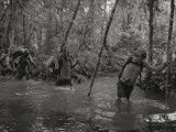 Michael Fay Leads His Team Through the Goualougo Swamp in Central Africa Photographic Print by Michael Nichols