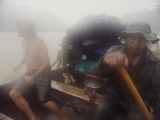 Wilderness Scouts Paddle the Jutai River in Canoe They Made Photographic Print by Nicolas Reynard