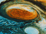 Voyager's View of the Great Red Spot, an Immense High-Pressure Area Photographic Print