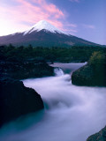 The Winding Rio Petrohue Beneath Osorno Volcano at Twilight Photographic Print by George F. Mobley