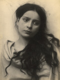 Portrait of a Sicilian Girl Photographic Print by Baron Von Gloeden