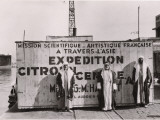 Citroen-Haardt Expedition Unloading at Dock in Beirut Photographic Print by Maynard Owen Williams