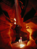A Mother and Child Marvel at the Wonders of Antelope Canyon Photographic Print by Paul Damien