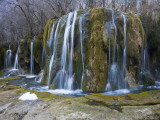 Arrow Bamboo Lake Waterfall in Jiuzhaigou National Park Photographic Print by Michael S. Yamashita