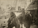 Wool and Fur Shielded Crewmen from Cold Aboard a Ship in the Arctic Photographic Print by Fridtjof Nansen