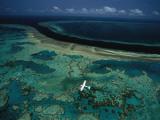 The More Than 1,250 Mile Long Great Barrier Reef Along Australia Fotografisk tryk af David Doubilet