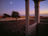 Moonrise over Cattle Point from Officer's Quarters Photographic Print by Richard Olsenius