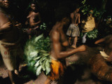Bambendjelle Tribespeople Dance to Commune with Forest Spirits Photographic Print by Michael Nichols