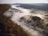 Fog Hugging the Delaware River Valley in Pennsylvania Photographic Print by Sam Abell