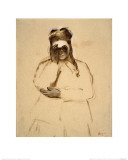Young Woman with Field Glasses Giclee Print by Edgar Degas