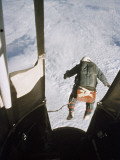 A Man Leaps from a Balloon Gondola at an Altitude of 102,800 Feet Photographic Print by Volkmar K. Wentzel