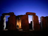 Twilight View of the Ruins of Stonehenge Photographic Print by Richard Nowitz
