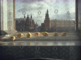 Ripening Pears and the Kremlin Visible Through Lace Curtains Photographic Print by Sam Abell