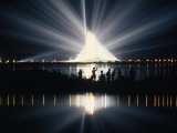 Illuminated by Spotlights, Apollo Ii Gleams and Reflects in a Lagoon Photographic Print by Otis Imboden