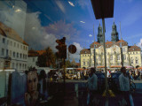 A Window Reflection of Luneburg's Town Hall Photographic Print by Sisse Brimberg