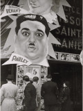 Advertising Outside a Theater Photographic Print by Maynard Owen Williams