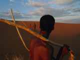 A San Tribesman with His Bow and Arrow Photographic Print by Chris Johns