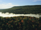Fog Settles into a Valley in Baxter State Park Photographic Print by Sam Abell