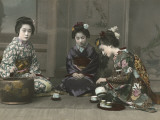 Geishas Perform a Tea Ceremony Photographic Print by Eliza R. Scidmore
