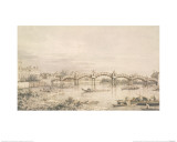 Hampton Court Bridge Giclee Print by Giovanni Antonio Canaletto