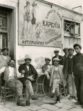 A Cafe Crowd Along the Water-Front' Photographic Print by Maynard Owen Williams