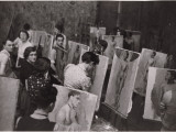 Students Practicing Painting Nudes Photographic Print by Maynard Owen Williams