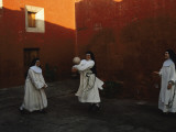 Novice Nuns Play Ball at the Monastery Photographic Print by Melissa Farlow