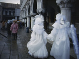 Carnival Goers on the Streets of Venice Photographic Print by Sam Abell