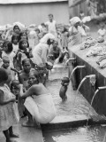 Moslem Women Attend a Ceremonial Bathing Spot Photographic Print by Maynard Owen Williams