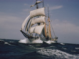 The Belgian School Ship Mercator under Full Sail Photographic Print by J. Baylor Roberts