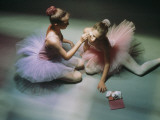 Ballerinas Get Ready for a Performance Photographic Print by Richard Nowitz