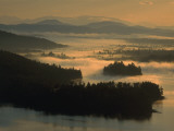 Sunrise and Mist on Lake Lila Photographic Print by Maria Stenzel