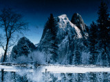 A Steep, Snow-Dusted Peak in the Sierra Nevada Mountains Photographic Print by Jonathan Blair