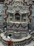 Ancient Chinese Porcelain Adorns Mexican Monuments Photographic Print by Sisse Brimberg