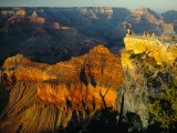 Sunlight on an Observation Platform at Mather Point Photographie par Walter Meayers Edwards