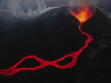 This Active Fissure Spewed Lava and Created Molten Rivers in May,1989 Photographic Print by Chris Johns