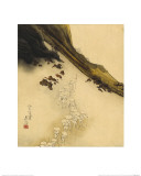 Pilgrims on the Slopes of Mount Fuji Giclee Print by Shibata Zeshin