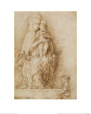 The Virgin and Child Enthroned with an Angel Giclee Print by Andrea Mantegna