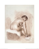 Nude Woman Sitting, Drying Her Right Foot Giclee Print by Piere-Auguste Renoir