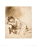 Young Woman Sleeping Giclee Print by  Rembrandt van Rijn