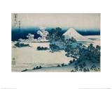 Shichiri Beach in Sagami Province, Katsushika Hokusai, Japan, Edo Period 1830-1833 Giclée-Druck von Katsushika Hokusai