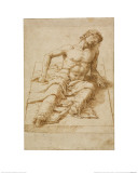 Man Lying on a Stone Slab Giclee Print by Andrea Mantegna