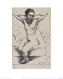 Nude with Beads (Frida Kahlo), 1930 Reproduction proc&#233;d&#233; gicl&#233;e par Diego Rivera