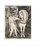 Emiliano Zapata and His Horse, 1932 Giclee Print by Diego Rivera