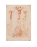 The Three Crosses Giclee Print by  Michelangelo